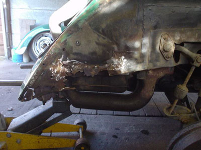 modified vw beetle vw t1 rusty
